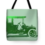 1909 Packard Limousine Green Pop Tote Bag