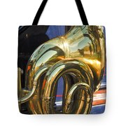 1910 Pope Hartford T Brass Horn Tote Bag