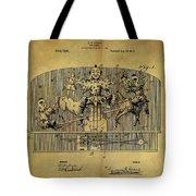 1910 Toy Circus Patent Tote Bag