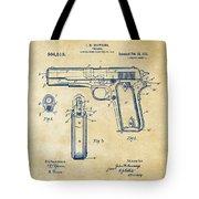1911 Colt 45 Browning Firearm Patent Artwork Vintage Tote Bag