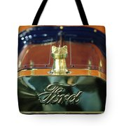1911 Ford Model T Runabout Hood Ornament Tote Bag by Jill Reger
