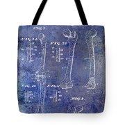 1911 Mechanical Skeleton Patent 1 Blue Tote Bag