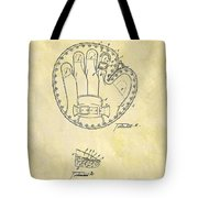 1916 Baseball Glove Patent Tote Bag