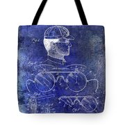 1916 Sunglasses Patent Blue Tote Bag