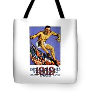 1919 Allied Games Poster Tote Bag