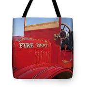1919 Volunteer Fire Truck Tote Bag