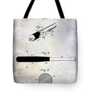 1920 Baseball Bat Patent Tote Bag