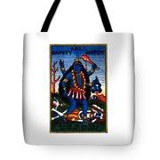 1920 Hindu Goddess Kali Tote Bag