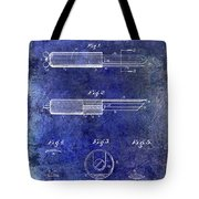 1920 Paring Knife Patent Blue Tote Bag