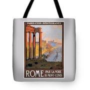 1920 Paris To Rome Train Travel Poster Tote Bag