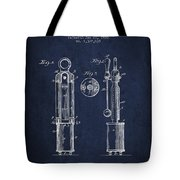 1920 Tuning Fork Patent - Navy Blue Tote Bag