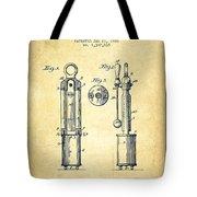 1920 Tuning Fork Patent - Vintage Tote Bag