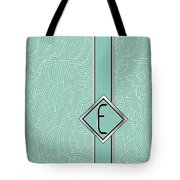 1920s Blue Deco Jazz Swing Monogram ...letter E Tote Bag