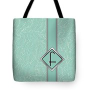 1920s Blue Deco Jazz Swing Monogram ...letter F Tote Bag