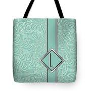 1920s Blue Deco Jazz Swing Monogram ...letter L Tote Bag