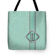 1920s Blue Deco Jazz Swing Monogram ...letter W Tote Bag