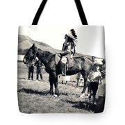 1920s Native And Crowd Tote Bag