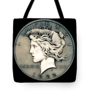 1922 Ghost Peace Dollar Tote Bag