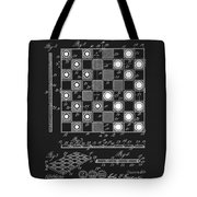 1923 Checkers And Chess Board Tote Bag