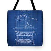 1923 Typewriter Screen Patent - Blueprint Tote Bag
