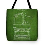 1923 Typewriter Screen Patent - Green Tote Bag
