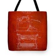 1923 Typewriter Screen Patent - Red Tote Bag