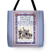 1924 British Empire Exhibition Wembley Tote Bag