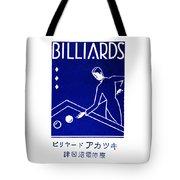 1925 Akatsuki Billiards Of Japan Tote Bag