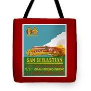 1926 San Sebastian Grand Prix Racing Poster Tote Bag