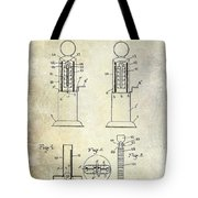 1926 Toy Filling Station Patent Tote Bag