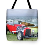 1927 Ford T Bucket Roadster 'on The Greens' Tote Bag