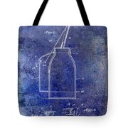 1927 Oil Can Patent Blue Tote Bag