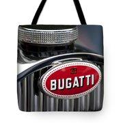 1928 Bugatti Hood Emblem Tote Bag