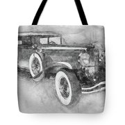 1928 Duesenberg Model J - Automotive Art - Car Posters Tote Bag