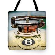 1929 Bentley 4.5-litre Open Tourer Hood Ornament Tote Bag