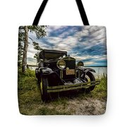 1930 Chevy On The Shore Of Higgins Lake Tote Bag