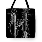 1930 Gas Pump Patent In Black Tote Bag