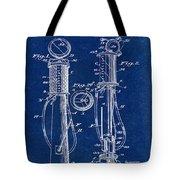 1930 Gas Pump Patent In Blue Tote Bag