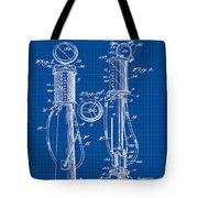 1930 Gas Pump Patent In Blue Print Tote Bag