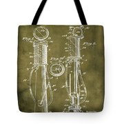 1930 Gas Pump Patent In Grunge Tote Bag