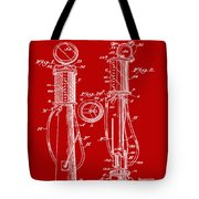 1930 Gas Pump Patent In Red Tote Bag