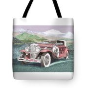 1930 Model J  Duesenberg Tote Bag
