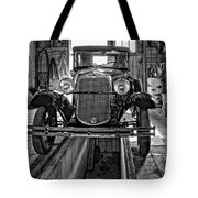 1930 Model T Ford Monochrome Tote Bag