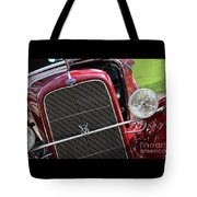 1930 Red Ford Model A-front-8886 Tote Bag