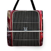 1930 Red Ford Model A-grill-8885 Tote Bag