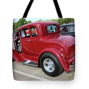 1930 Red Ford Model A-rear-8902 Tote Bag