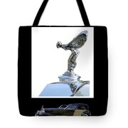 1930 Rolls Royce Mascot And Car Tote Bag