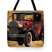 1931 Ford Model A Fire Truck Tote Bag