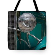 1931 Teal Chevy Hot Rod Headlight Tote Bag