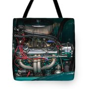 1931 Teal Chevy Hot Rod Motor Tote Bag